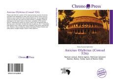 Capa do livro de Anicius Olybrius (Consul 526)