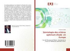 Sémiologie des critères optimum d'iode en Europe kitap kapağı