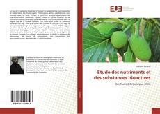 Обложка Etude des nutriments et des substances bioactives
