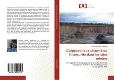 Обложка (Co)produire la sécurité ou l'insécurité dans les sites miniers