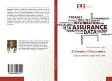 Capa do livro de L'absence d'assurance