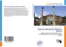 Capa do livro de Caecina Mavortius Basilius Decius