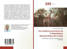 Couverture de Les matières premières de la Republique Democratique du Congo
