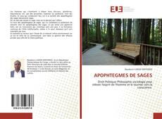 Bookcover of APOPHTEGMES DE SAGES