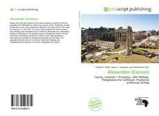 Capa do livro de Alexander (Comes)