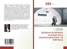 Borítókép a  Syndrome de Whitaker (à propos d'une communication brève au CMH Paris) - hoz