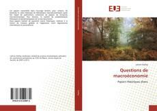 Couverture de Questions de macroéconomie