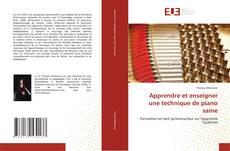 Buchcover von Apprendre et enseigner une technique de piano saine