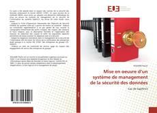 Mise en oeuvre d'un système de management de la sécurité des données kitap kapağı