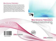 Bookcover of Miss Universe Titleholders