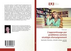 Couverture de L'apprentissage par problèmes comme stratégie d'enseignement
