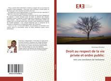 Droit au respect de la vie privée et ordre public: kitap kapağı