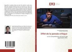 Bookcover of Effet de la pensée critique