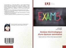 Analyse docimologique d'une épreuve sommative kitap kapağı