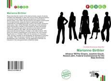 Capa do livro de Marianne Birthler