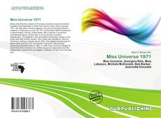 Bookcover of Miss Universe 1971