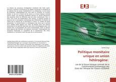 Bookcover of Politique monétaire unique en union hétérogène: