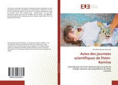 Capa do livro de Actes des journées scientifiques de l'Istm-Kamina