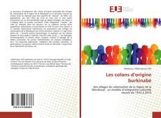 Bookcover of Les colons d'origine burkinabè