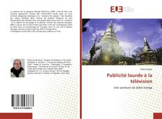 Capa do livro de Publicité lourde à la télévision