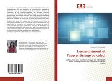 Buchcover von L'enseignement et l'apprentissage du calcul