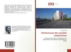Performance des sociétés coopératives kitap kapağı