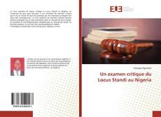 Capa do livro de Un examen critique du Locus Standi au Nigeria