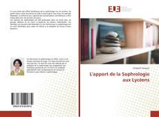 Bookcover of L'apport de la Sophrologie aux Lycéens