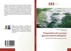 Buchcover von Proposition de nouveau gouvernement éthiopien
