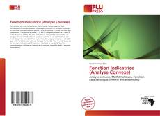Bookcover of Fonction Indicatrice (Analyse Convexe)