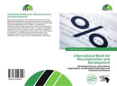 Bookcover of International Bank for Reconstruction and Development