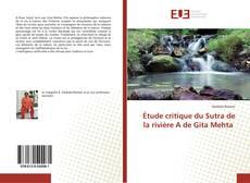 Portada del libro de Étude critique du Sutra de la rivière A de Gita Mehta