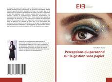 Bookcover of Perceptions du personnel sur la gestion sans papier