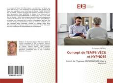 Couverture de Concept de TEMPS VÉCU et HYPNOSE