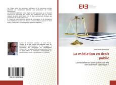Bookcover of La médiation en droit public