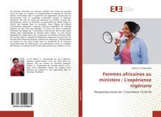 Buchcover von Femmes africaines au ministère: L'expérience nigériane