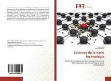 Couverture de Sciences de la nano technologie
