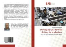 Borítókép a  Développer une formule de taux de production - hoz