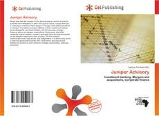 Juniper Advisory kitap kapağı