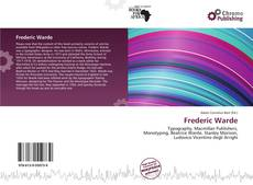 Frederic Warde kitap kapağı