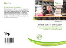 Bookcover of British School of Houston