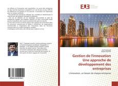 Buchcover von Gestion de l'innovationUne approche de développement des entreprises