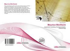 Maurice Wertheim kitap kapağı