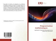 Programmation mathématiques的封面