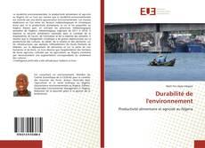 Capa do livro de Durabilité de l'environnement