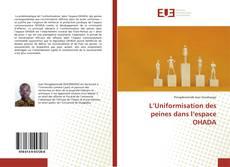 Copertina di L'Uniformisation des peines dans l'espace OHADA