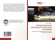 Bookcover of L'électrocoagulation solaire pour les eaux usées municipales