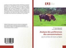 Analyse des préférences des consommateurs kitap kapağı