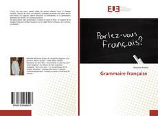Bookcover of Grammaire française