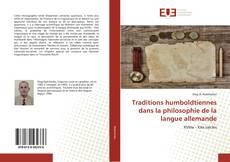 Bookcover of Traditions humboldtiennes dans la philosophie de la langue allemande
